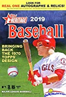 2019 Topps Heritage MLB Baseball EXCLUSIVE Factory Sealed Hanger Box with 35 Cards! Look for Real One Autographs, Relics, Inserts, Parallels & More! This Product is on FIRE! Brand New! WOWZZER!