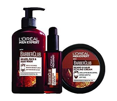 L'Oreal Men Expert Barber Club Long Beard 3-Step Regime Bundle