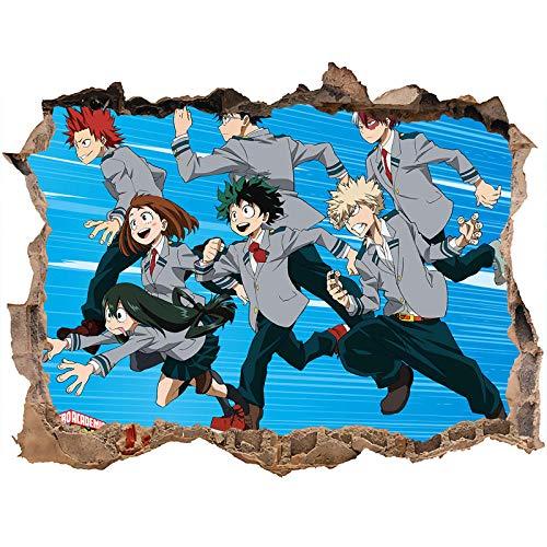 Nensuo 3D Anime My Hero Academia Deku - Póster Decorativo para Pared Fondo de Pantalla póster Pegatina de pared-80 * 120CM-C_40*60CM