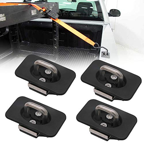 StarONE 4pcs Raised Truck Bed Retractable Tie Down Anchors Fit for 98-14 Ford...