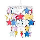 MiniSun - Pantalla de lámpara de techo infantil con cascada de estrellas multicolor