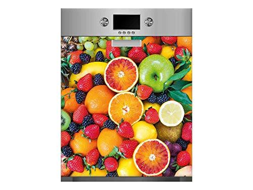 Vinilo para Lavavajillas Frutas Variadas   Varias Medidas 65x75cm   Adhesivo Resistente y de Fácil Aplicación   Pegatina Adhesiva Decorativa de Diseño Profesional