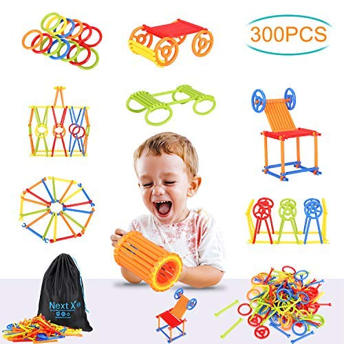 Tinker Toys, NextX 300 Pieces Educational Building Toys, Toy...