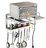 Estanterías para horno microondas, soporte de pared de almacenamiento para la...