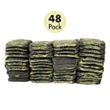 Stahlwolle Pads mit Seife 48 Stück Topfreiniger Reinigungsschwamm Stahlschwamm Backofenreiniger