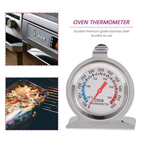 Longspeed Acero Inoxidable Alimentos Temperatura de la Carne Clásico Stand Up Dial Horno Termómetro Indicador Gage Termómetro de Cocina - Gris