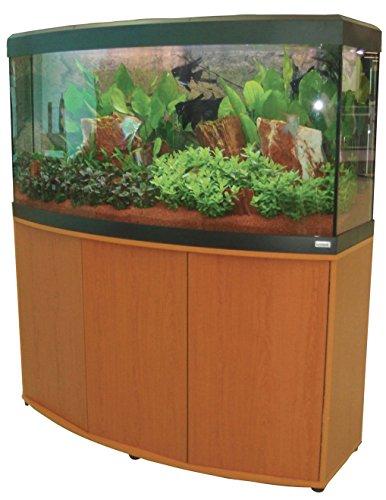 Aquariumkombination Fluval Vicenza 180 mit LED Beleuchtung, Heizer, Filter und Unterschrank Kirschbaum Eco
