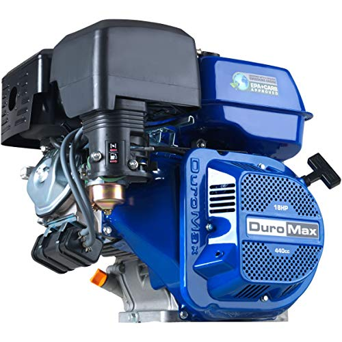 DuroMax XP18HP 440cc 18HP Recoil Start Gas Powered 50 State Approved, Multi-Use Engine, XP18HP, Blue