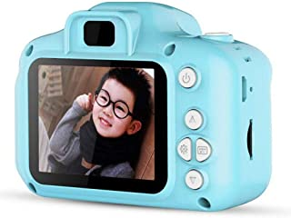 "Children Camera Digital Camera HD Mini 2.0"" 1080P Kids Gift Toy with 32G TF Card Card Reader Lanyard Data line Buggy Bag Blue"
