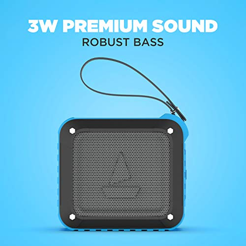 boAt Stone 200 IPX6 Waterproof 3W Speaker with Bluetooth v4.1 with Playback time of 10 Hours (Blue)