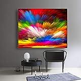 hetingyue Aquarell Leinwand Malerei Moderne Kalligraphie Home Bild Wohnzimmer Dekoration rahmenlose Malerei 60x80cm