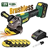 Amoladora Angular 18V Brushless, POPOMAN Angular Sin...