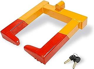 VaygWay Wheel Lock Tire Clamp- Car Trailer Wheel Chock Lock-Anti Theft Boot Metal Stabilizer- Camper Locking Claw Security Travel- Auto Car Van Truck SUV Fit