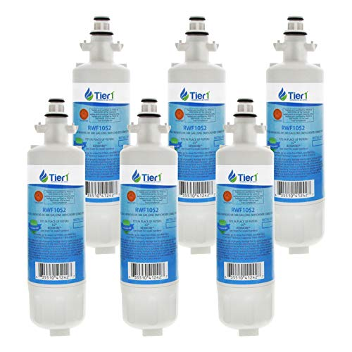 Tier1 Replacement for LG LT700P, ADQ36006101, ADQ36006102, Kenmore 46-9690, 469690 Refrigerator Water Filter 6 Pack
