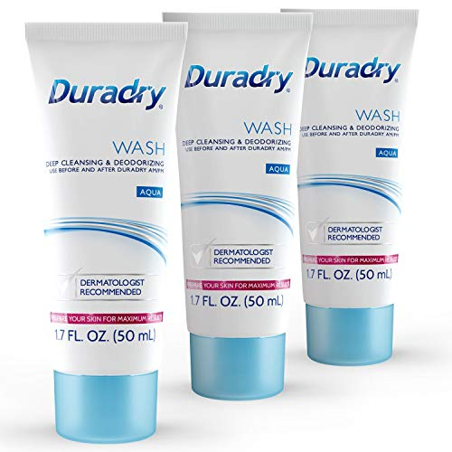 Duradry Wash 50mL Odor Control - Deep Cleansing and Deodorizing. Neutralizes and Controls Odors while Nourishing your Skin (3-Pack)