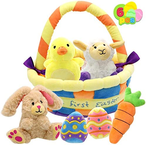 JOYIN 7 Pcs Easter Basket plushies playset Easter Basket Stuffers Toys for Easter Party Favors product image