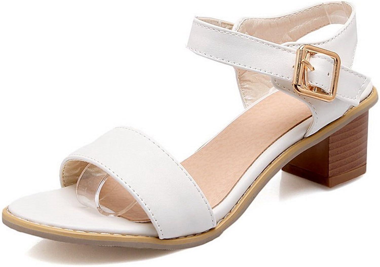 AdeeSu Womens Non-Marking Peep-Toe Cold Lining Urethane Sandals SLC03724