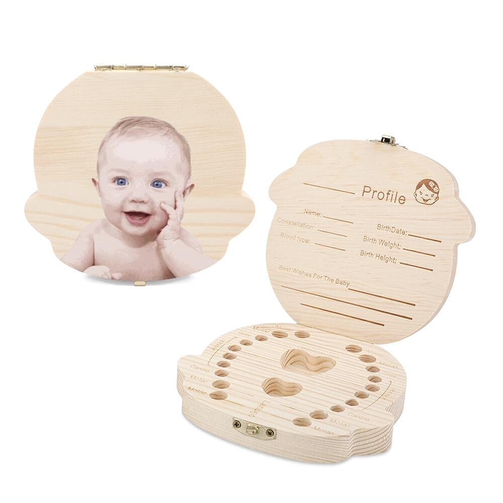 Custom Baby Tooth Max 81% Choice OFF Box Wooden Keepsake Holder Kids Person