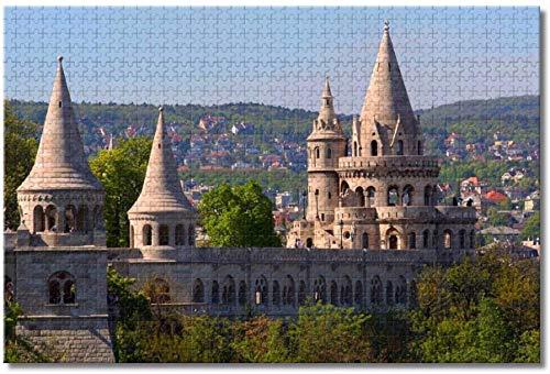 Puzzle para adultos 1000 piezas Fishermen's Bastion Budapest Puzzle juego educativo juguete desafiante rompecabezas
