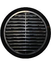 Ventilatierooster Ø 100 110 120 125 150 mm rond zwart kunststof T36 insectennet afvoerrooster toevoerlucht afvoerlucht rooster rooster ventilatie