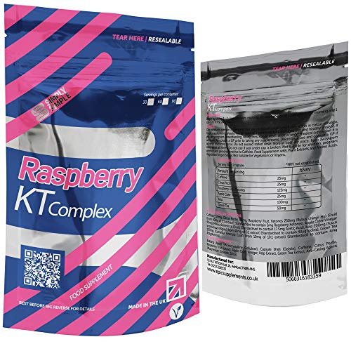 Simply Simple Raspberry KT Complex Ketone Slimming Pills with Caffeine & Iodine
