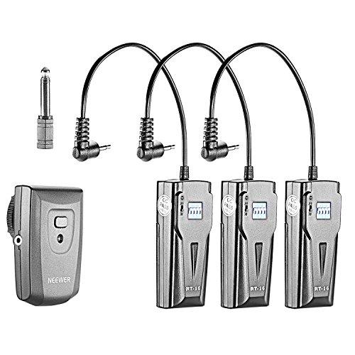 Neewer 16 Kanäle Wireless Radio Flash Speedlite Studio Triggerset, einschließlich (1) Sender und (3) Empfänger, passend für Canon Nikon Pentax Olympus Panasonic DSLR Kameras (RT-16)