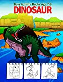 Boys Activity Books Age 7-9 - Dinosaur: 108 Pages Big Fun Childrens Activity, Dino Colouring Book, Colour By Numbers For Children, Join The Dots Books ... Maze Book, Copy The Picture, Gift For Boys!