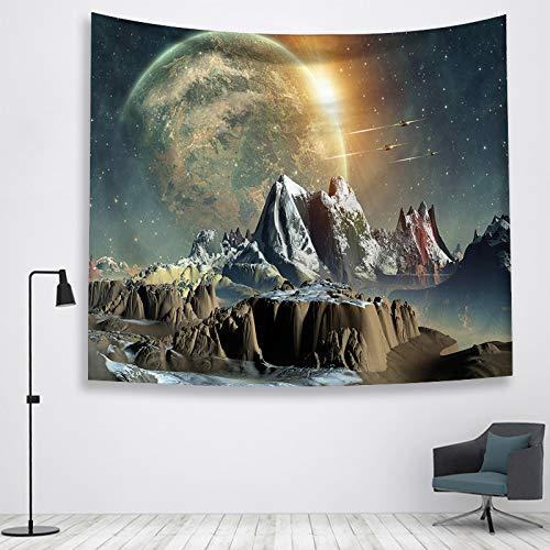 jtxqe Impreso Galaxy Galaxy Tapiz para el hogar Decorativo Colgante de Pared decoración de la Pared...