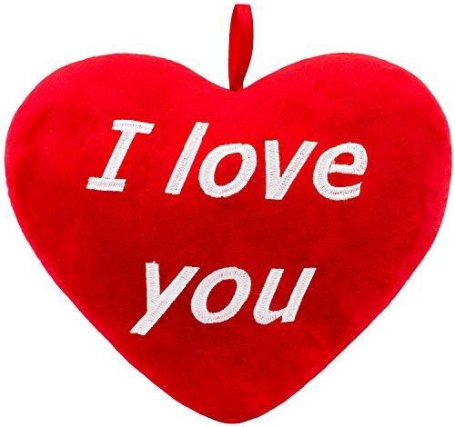 Brubaker Peluche Cuore di Peluche 'I Love You' Rosso 32 cm
