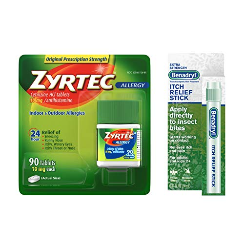 Zyrtec Relief Tablets, 90 Count and Benadryl Extra...