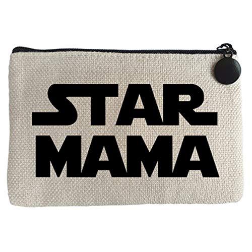 Monedero Star Mama madre friki - Beige, 15 x 10 cm
