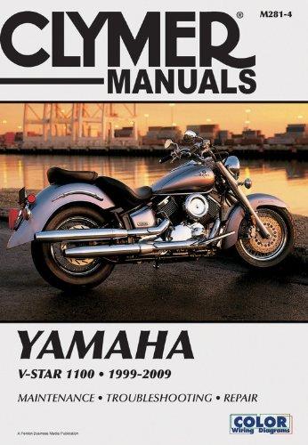 Yamaha V-Star 1100 Series Motorcycle (1999-2009) Service Repair Manual