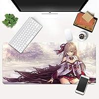 マウスパッド ゲームShadowverseマウスマット大型ゲーム滑り止めラバーベースコンピューターキーボードパッド-(C)60X30X0.3Cm