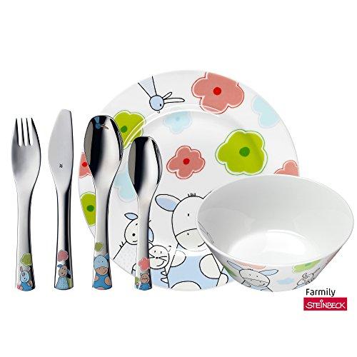 WMF Farmily Vajilla para ninos 6 piezas incluye plato cuenco
