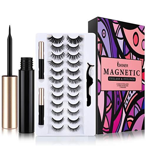 [12 Paia] Ciglia Magnetiche con Eyeliner Magnetico, 3D Ciglia Finte Magnetiche...