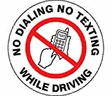 Label, Safety, No Texting or Dialing While Driving, 1-1/2 in. PK5