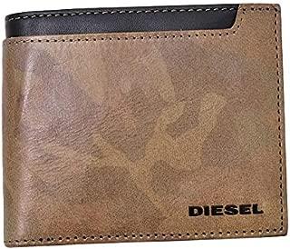 ディーゼル DIESEL CAMOLEAT HIRESH S カモフラージュ 迷彩 レザー ウォレット 折財布 ブラウン×ブラック [メンズ] X05832 PS998 H4185