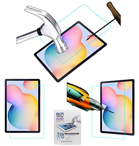 Acm Tempered Glass Screenguard Compatible with Samsung Galaxy Tab S6 Lite 10.4 Sm-P615 Tablet Screen Guard