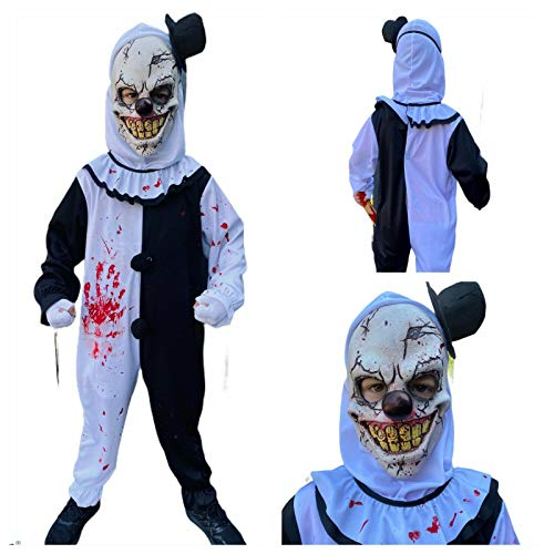 Rubber Johnnies Disfraz de payaso aterrador para nios, disfraz, arte, Jester, nios, Halloween
