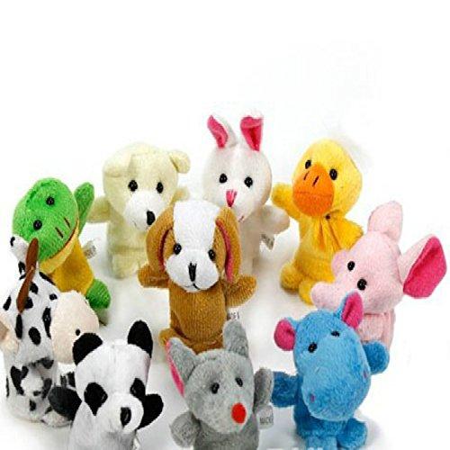 Hosaire animali della dita marionette Soft Accessori bambole giocattoli–10pcs (modelli casuali)