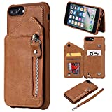 Ryrybh2848 pour étui en Cuir d'actif iPhone 7 iPhone 8 Plus Cas de Portefeuille en Cuir Couverture...