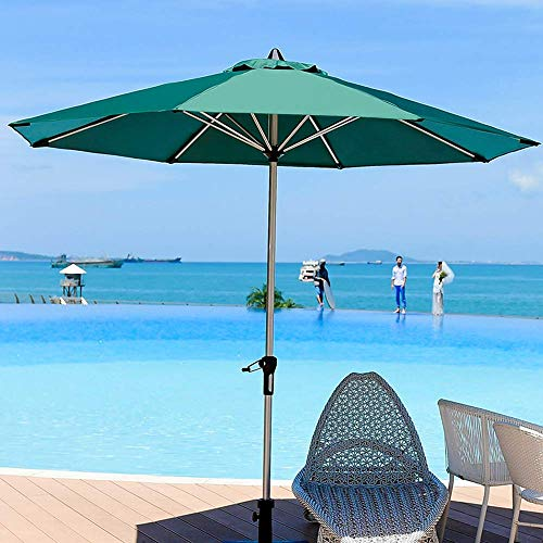 Baibao Ombrellone da Giardino - tavoli e sedie ombrelloni in Alluminio - 270cm con Crank - Double Top Traspirante - ispessite Balcone Giardino Pieghevole Mobili da Giardino