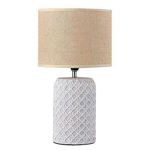 SXNYLY Cilíndrica Creativo Dormitorio lámpara de cabecera del Cemento Personalidad Plug-in Vertical luz cálida Oficina Nórdica lámpara de Mesa Dormitorio Principal lámpara Cama Pantalla de la Tela