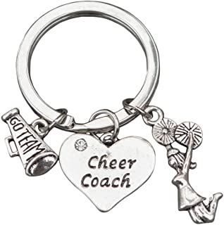 Infinity Collection Cheer Coach Gift- Cheerleading Coach Keychain, Cheer Coach Jewelry for Cheer Coaches