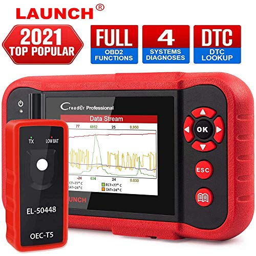 LAUNCH OBD2 Scanner CRP123 - Engine/ABS/SRS/Transmission Code Reader Car Diagnostic Scan Tool,4 in 1 Live Data Stream Graph,Free Update + EL-50448 TPMS Tool