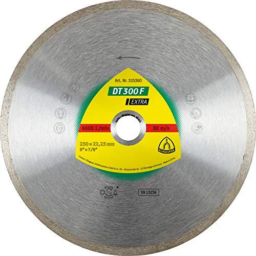 Klingspor dT 300 f aDT diamantwerkzeuge gmbH disque eXTRA à tronçonner diamanté pour carrelage, basic pour meuleuse d'angle 180 x 1,6 x 22,23 mm