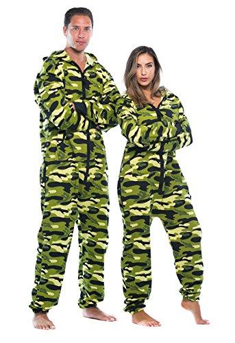#FollowMe Adult Onesie Pajamas Jumpsuit 6439-NEW-GRN-S