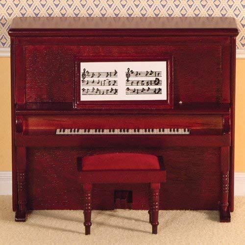 Dolls House 2114 Piano Victorian Klavier Mahagoni 1:12 für Puppenhaus