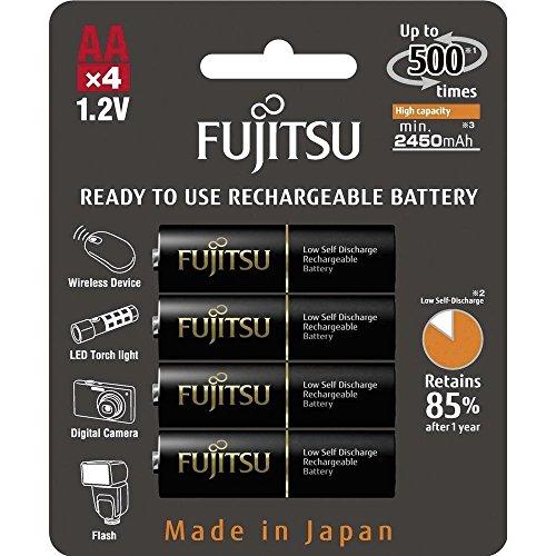 Fujitsu HR-3UTHCEU-4B Wiederaufladbare Akku (4X AA) 2450mAh schwarz