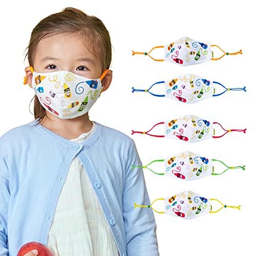 Crayola Kids Face Mask - 5 Reusable Cloth Face Masks Set, Craymoji, Back to School Supplies